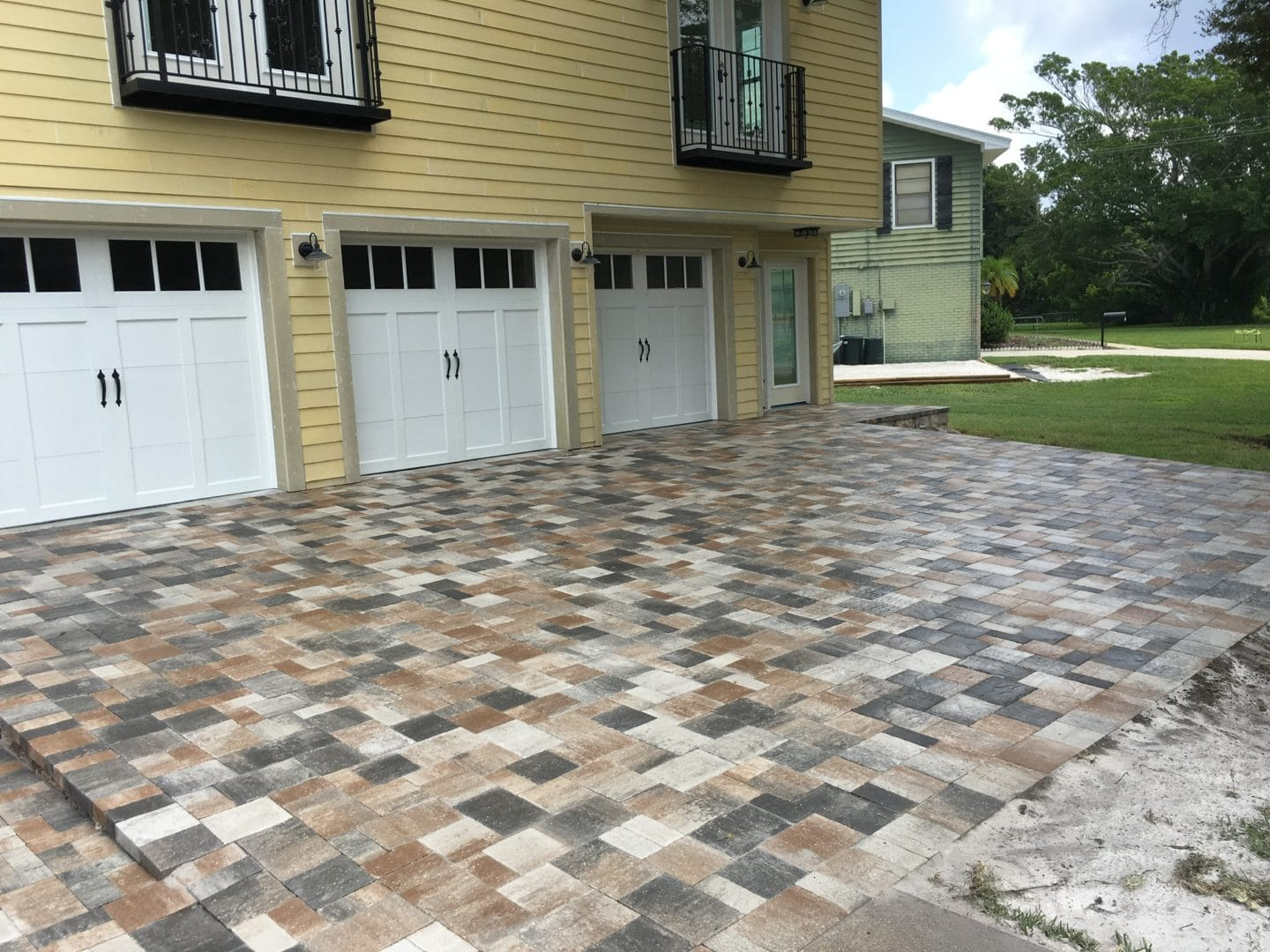 recently sealed pavers