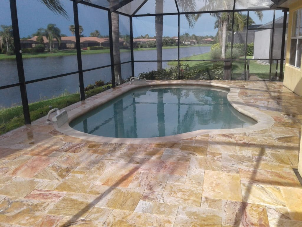 Travertine pavers that don't get hot in the sun