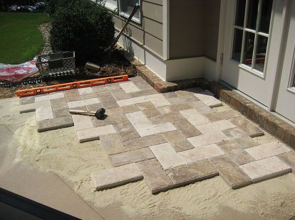 Project of a paver patio.