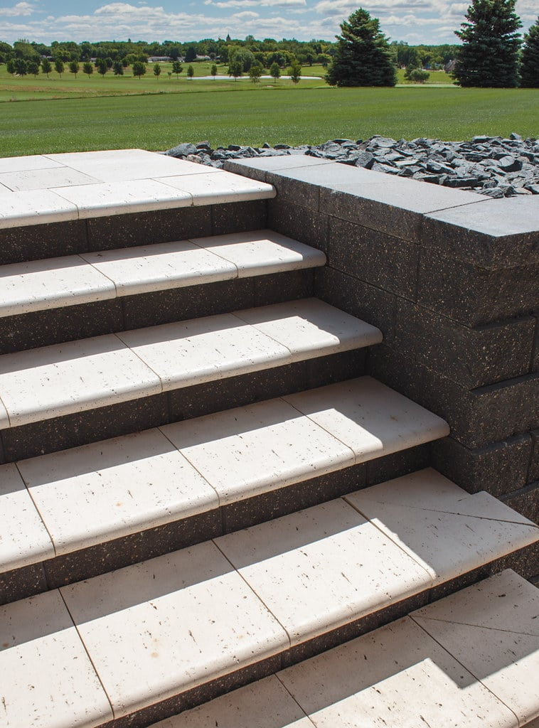 Steps with pavers
