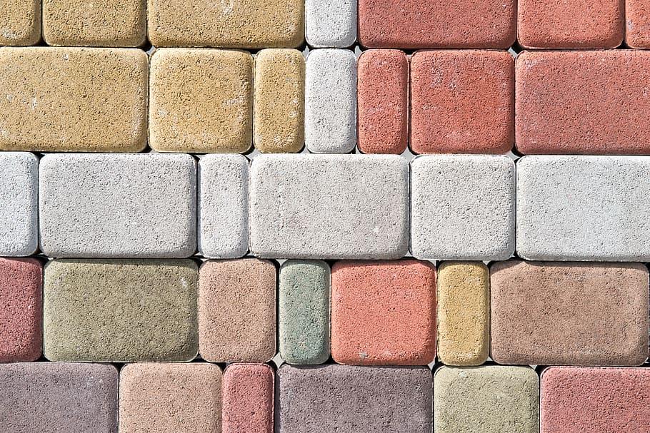 Hues of concrete paver