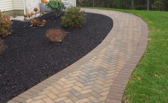 interlock concrete walkway