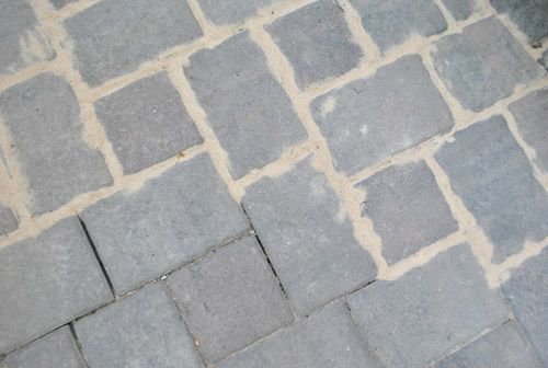 sand in pavers
