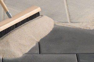 Polymeric sand on pavers